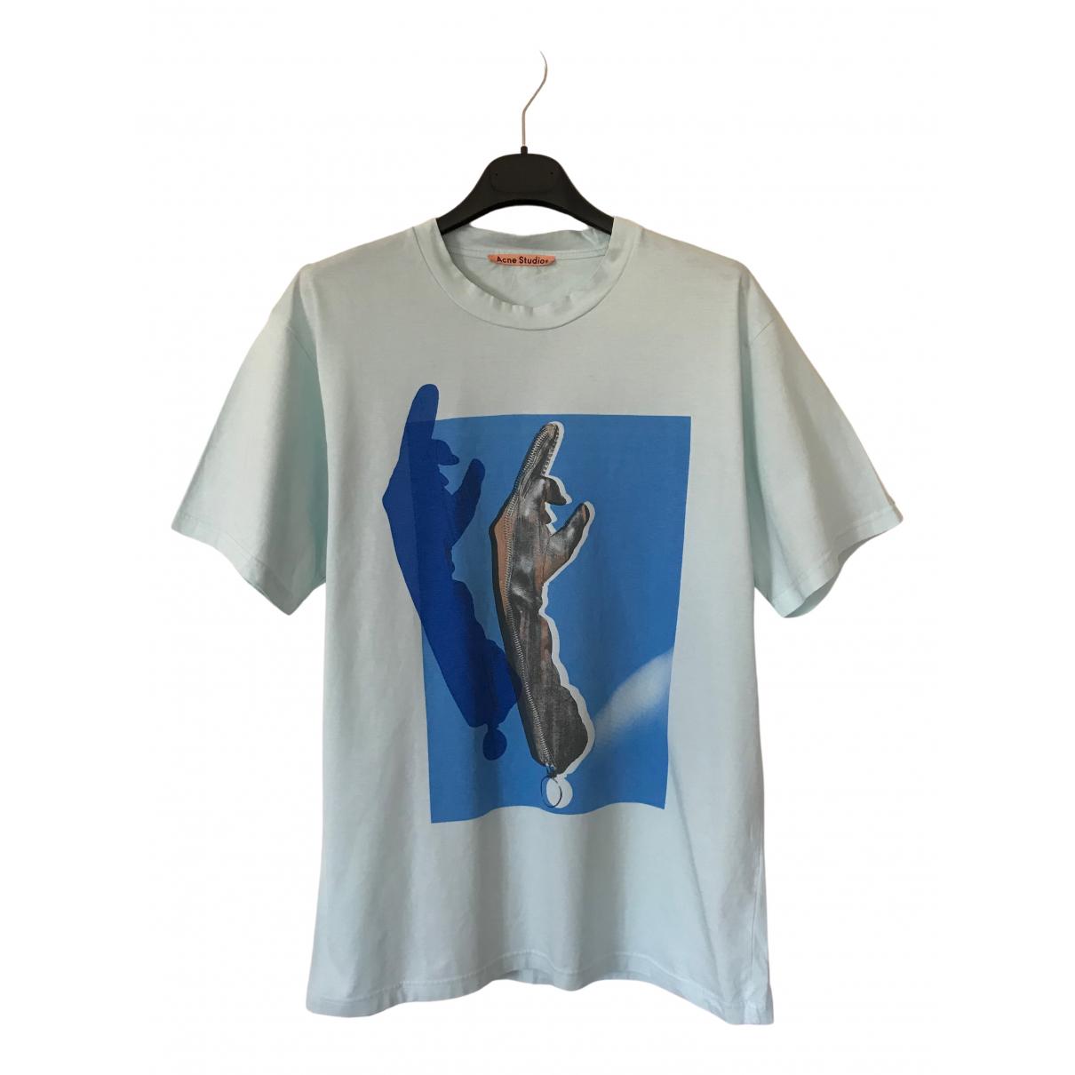 Acne Studios - Tee shirts   pour homme en coton - bleu