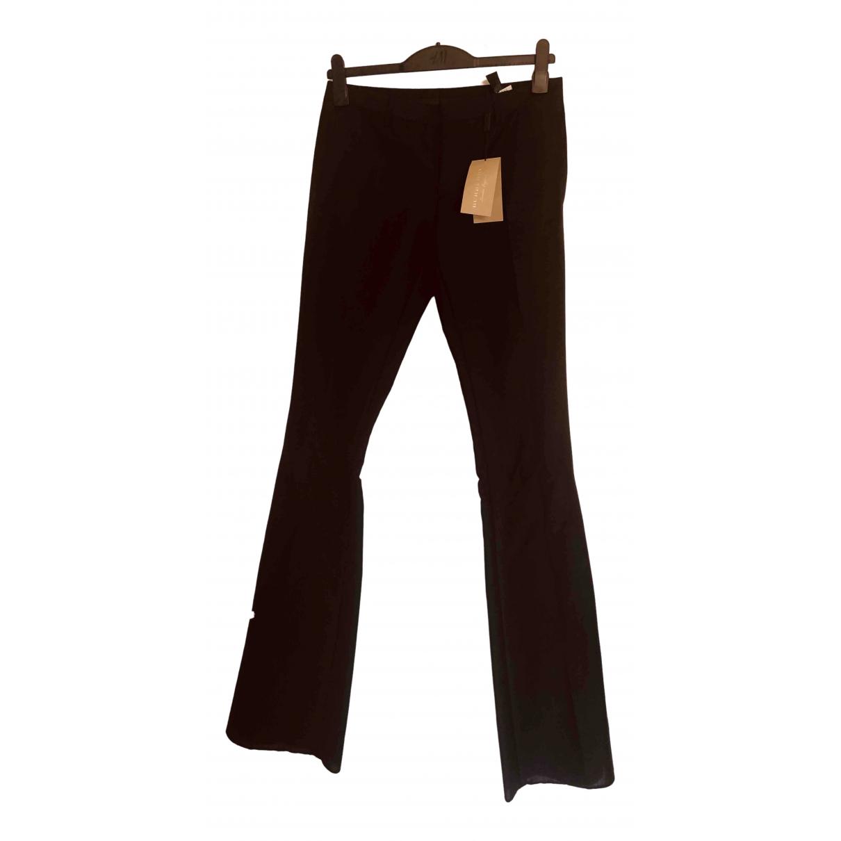 Burberry \N Black Wool Trousers for Women 46 FR