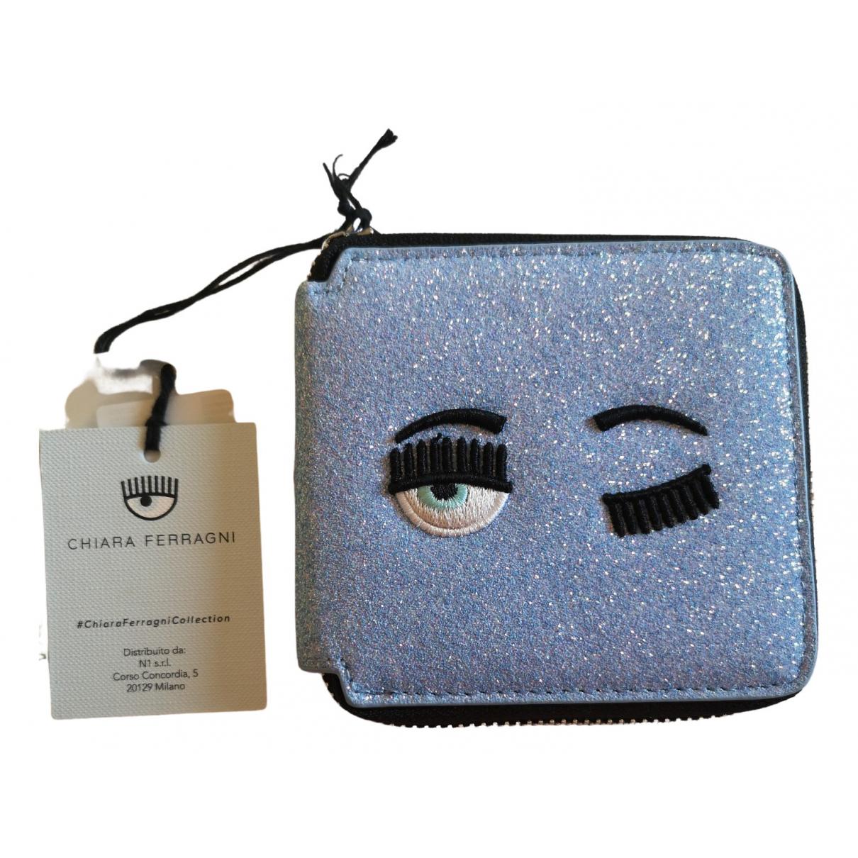 Chiara Ferragni \N Portemonnaie in  Metallic Leder