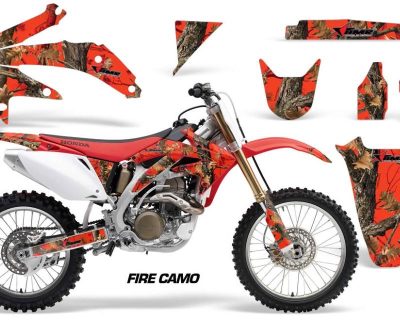 AMR Racing Dirt Bike Graphics Kit Decal Sticker Wrap For Honda CRF450R 2005-2008áFIRE CAMO