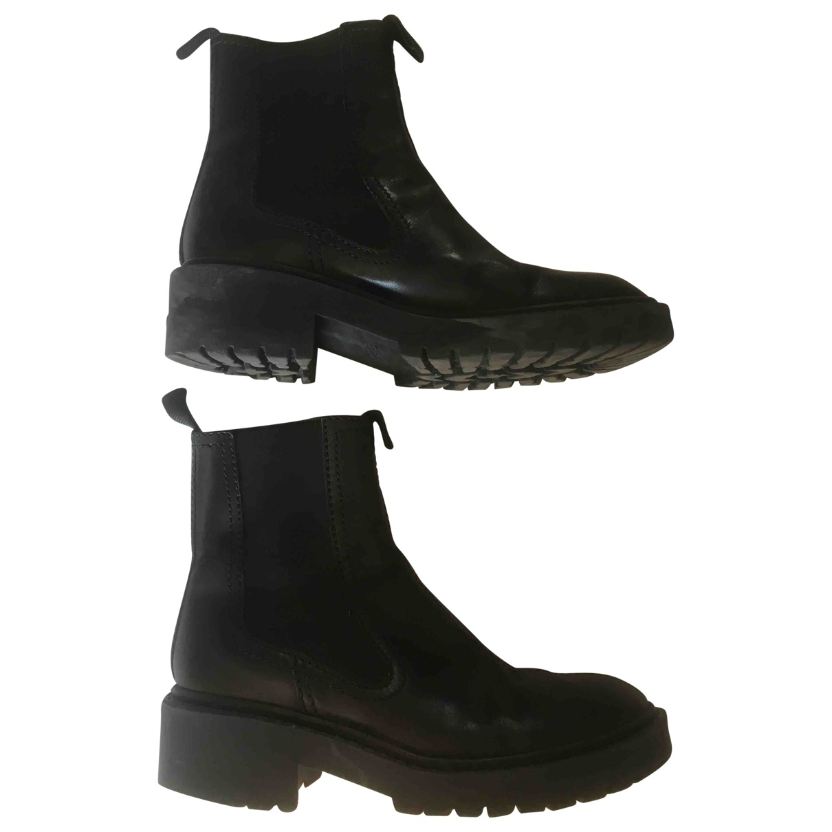 Kenzo \N Black Leather Ankle boots for Women 39 EU