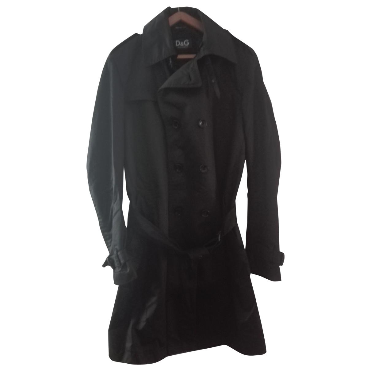 D&g \N Black Cotton coat  for Men 48 IT