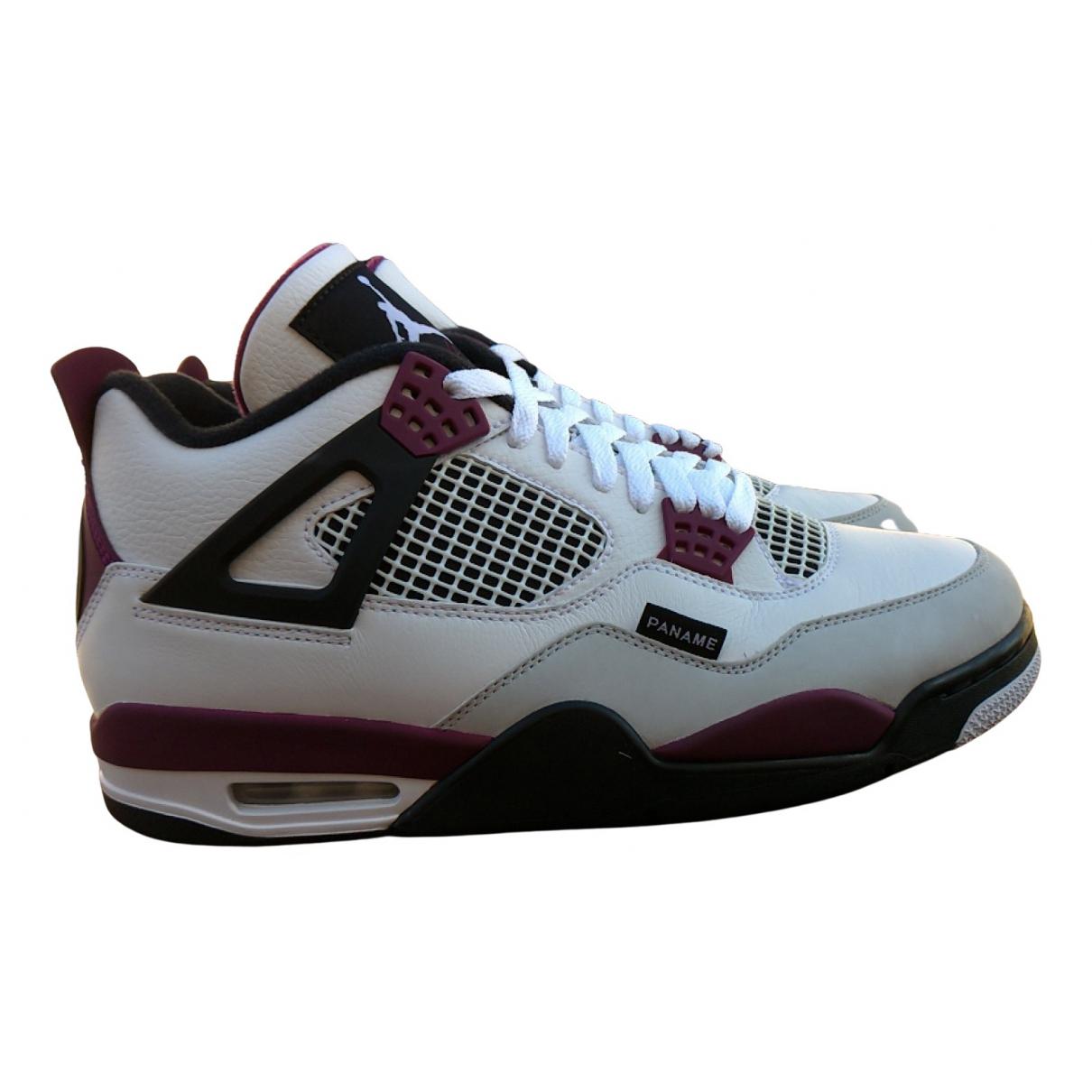 Jordan - Baskets Air Jordan 4 pour homme en cuir - bordeaux