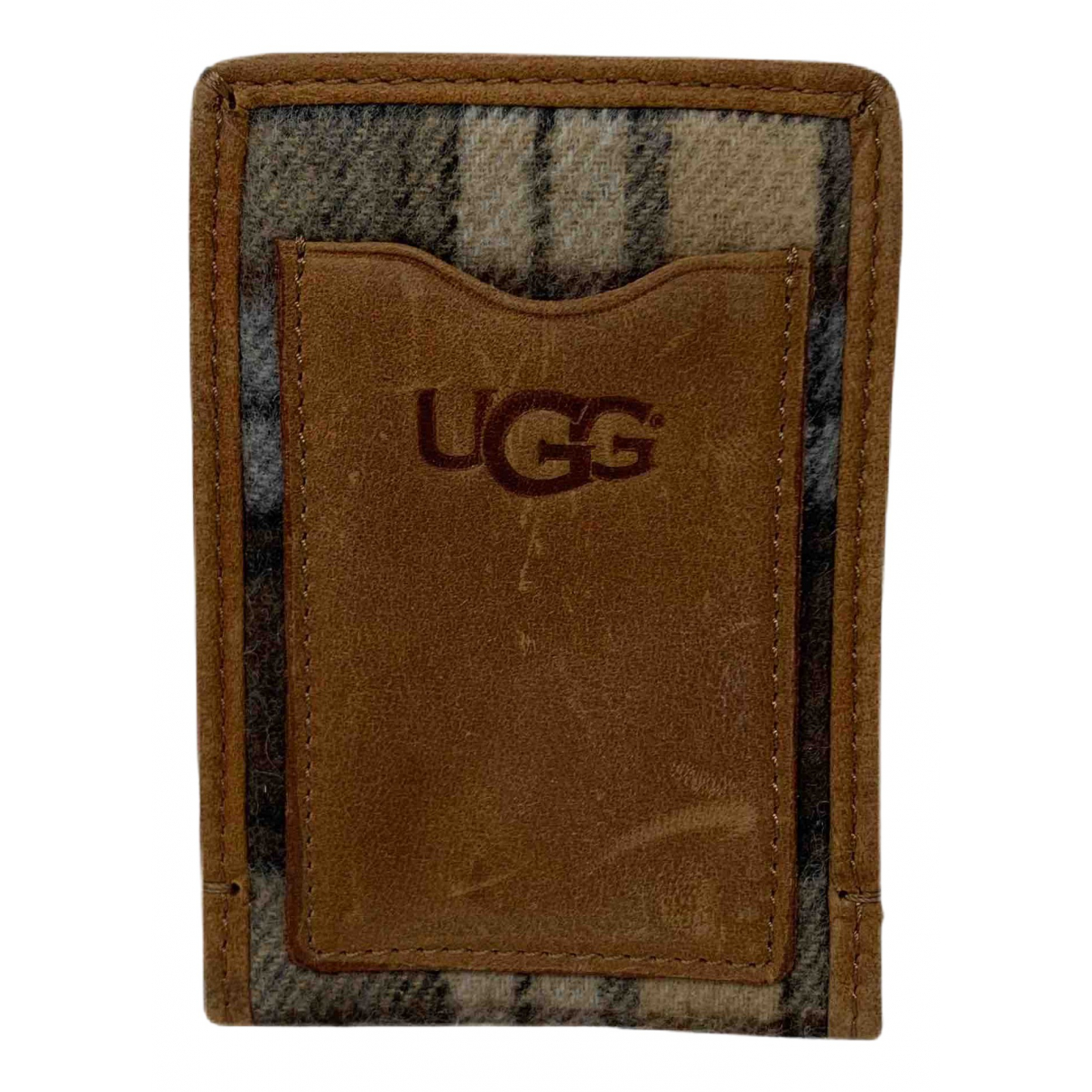 Ugg \N Portemonnaie in  Braun Wolle
