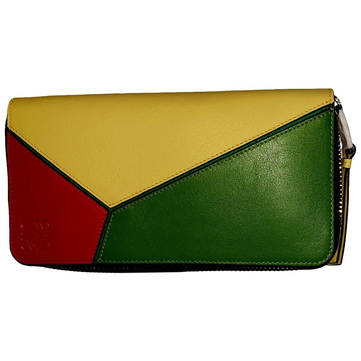 Loewe - Portefeuille   pour femme en cuir - multicolore
