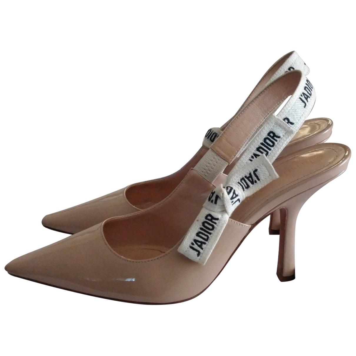 Dior - Escarpins Jadior pour femme en cuir verni - beige