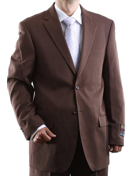 Men's 100% Polyester Fully Lined 2 Button Single Breasted Dress Suit