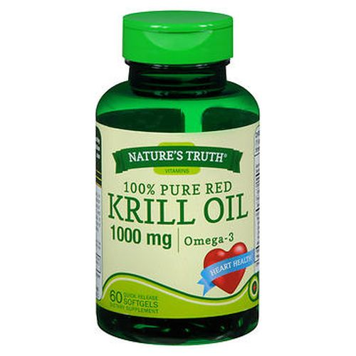 Natures Truth 100% Pure Red Krill Oil Omega 3 Quick Release Softgels 60 Caps by Natures Truth