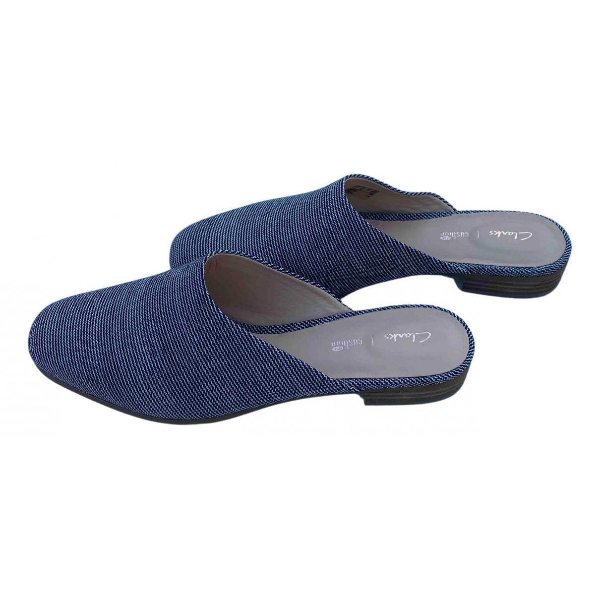 Clarks - Sandales   pour femme en toile - bleu