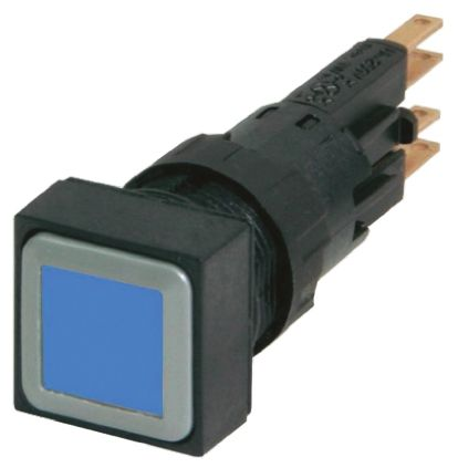 Eaton , RMQ16 Illuminated Blue Square Push Button, 16mm Momentary Push In