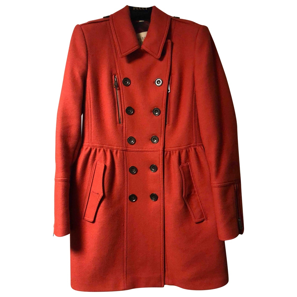 Burberry \N Maentel in  Rot Wolle