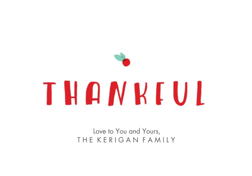 Thank You Cards 3.5x5 Folded Notecard, Card & Stationery -Dash Of Joy