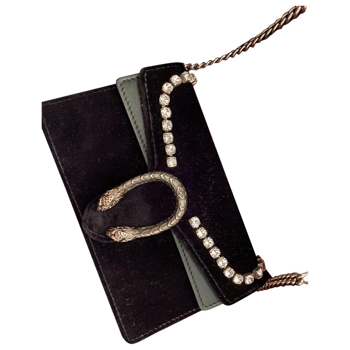 Gucci - Pochette Dionysus pour femme en velours - noir