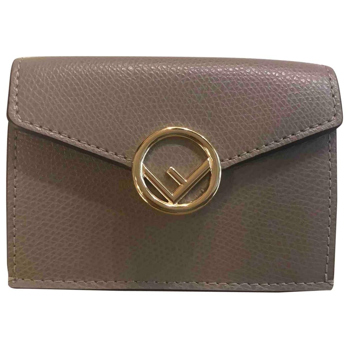 Fendi \N Brown Leather wallet for Women \N