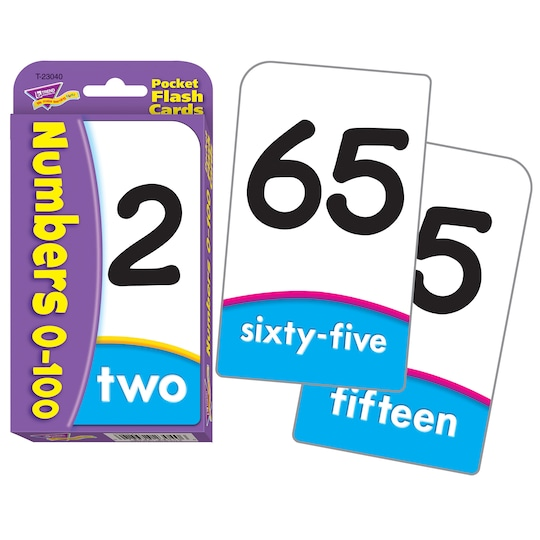 Numbers 0-100 Pocket Flash Cards, 12 Sets By Trend | Michaels®