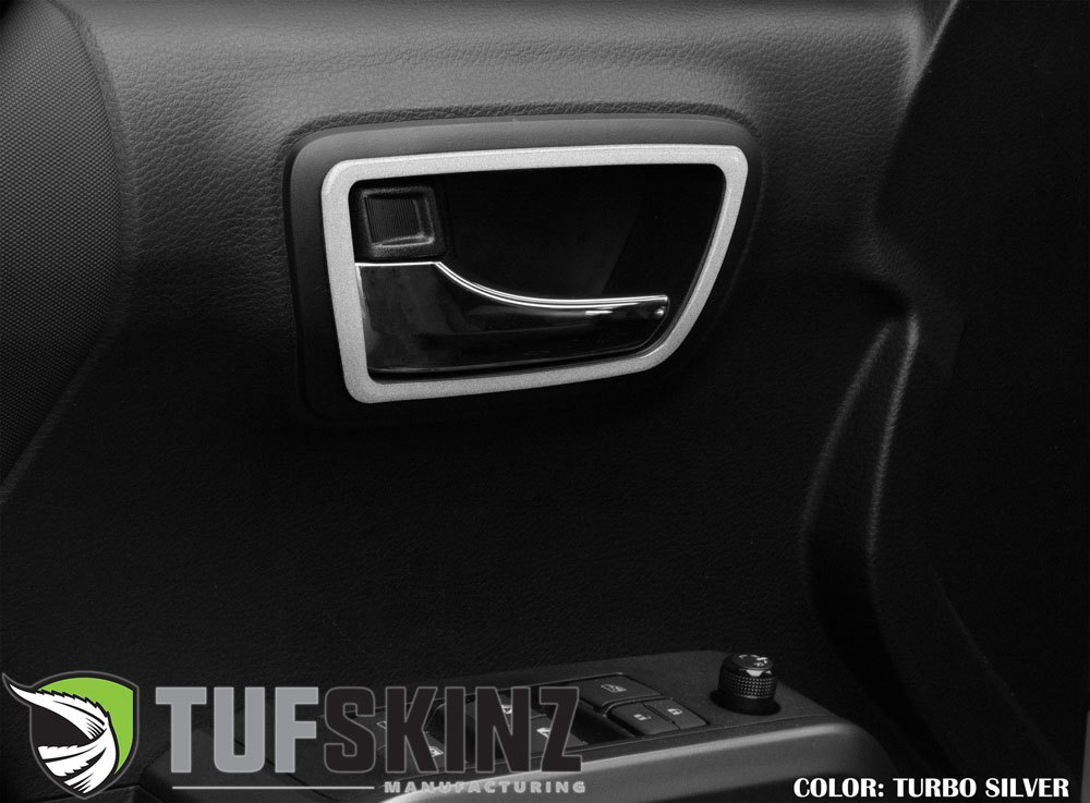 Tufskinz TAC031-GTO-G Double Cab Door Handle Surround Accent Trim Fits 16-up Toyota Tacoma 4 Piece Kit Turbo Silver