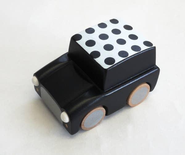 kiko+ & gg Kuruma Wind-up Car - Dot Black