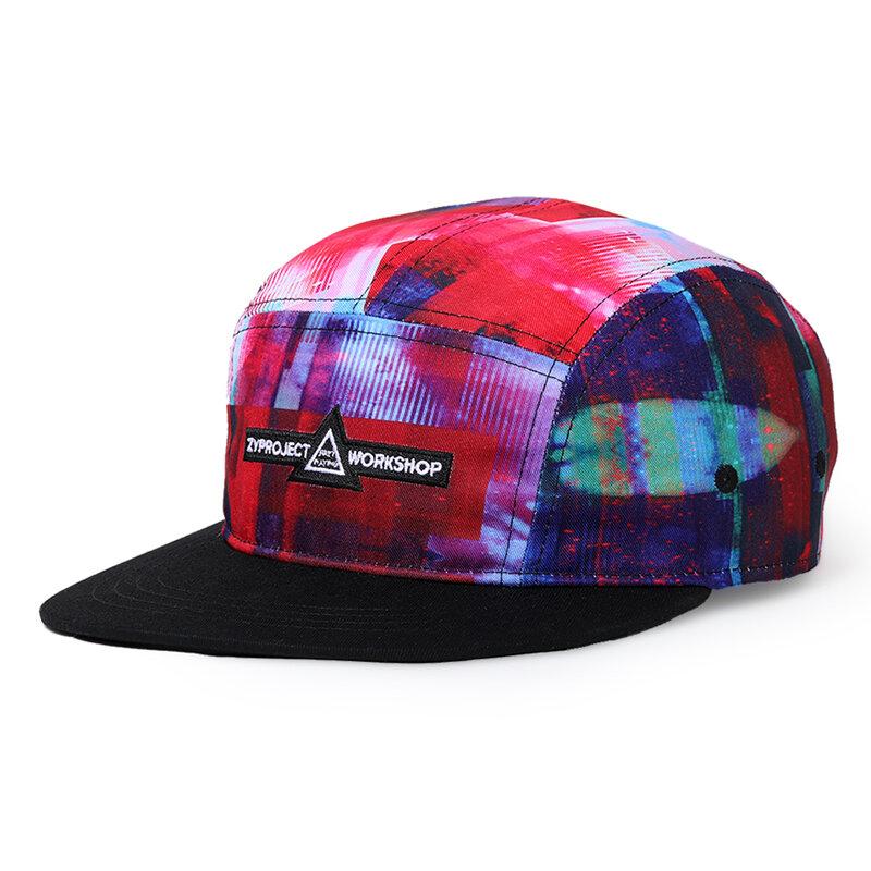 NUZADA Mens Graffiti Print Cotton Hat Windproof Adjustable Outdoor Casual Wild Baseball Cap