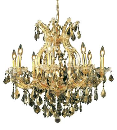 2800D26G-GT/SS 2800 Maria Theresa Collection Hanging Fixture D26in H26in Lt: 8+1 Gold Finish (Swarovski Strass/Elements Golden