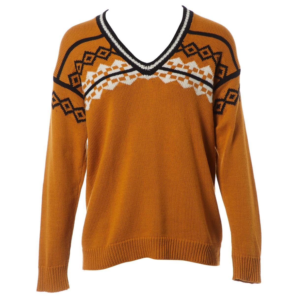Burberry \N Pullover.Westen.Sweatshirts  in  Gelb Wolle