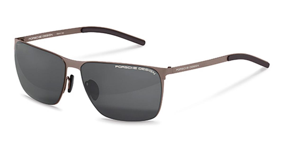 Porsche Design P8669 B Men's Sunglasses Brown Size 61