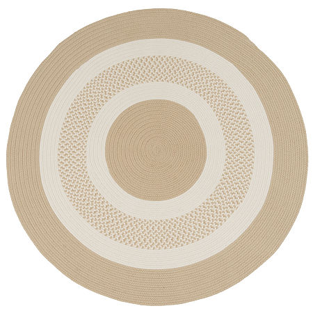 Colonial Mills Lighthouse Reversible Braided Indoor/Outdoor Round Rug, One Size , White