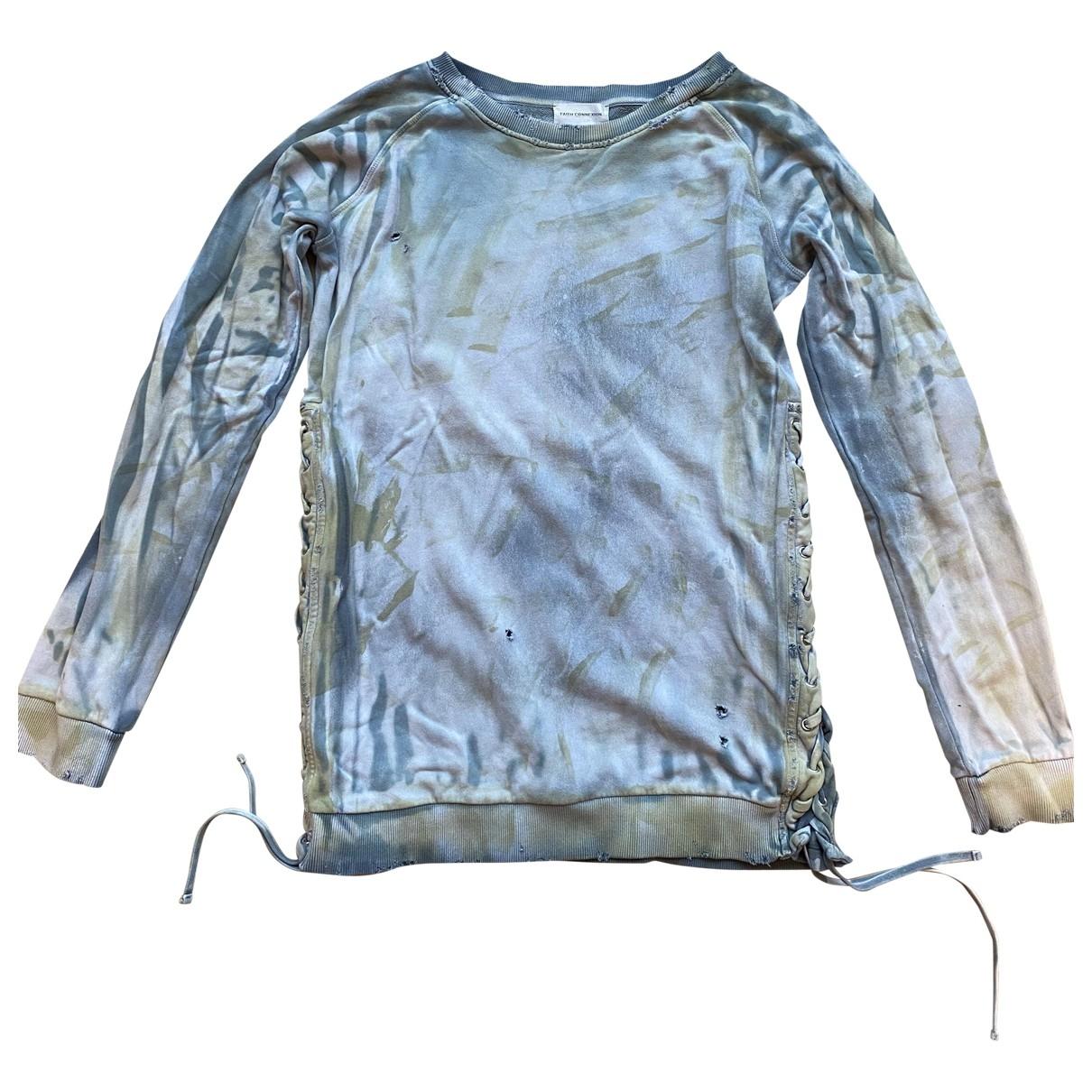 Faith Connexion \N Pullover.Westen.Sweatshirts  in  Blau Baumwolle