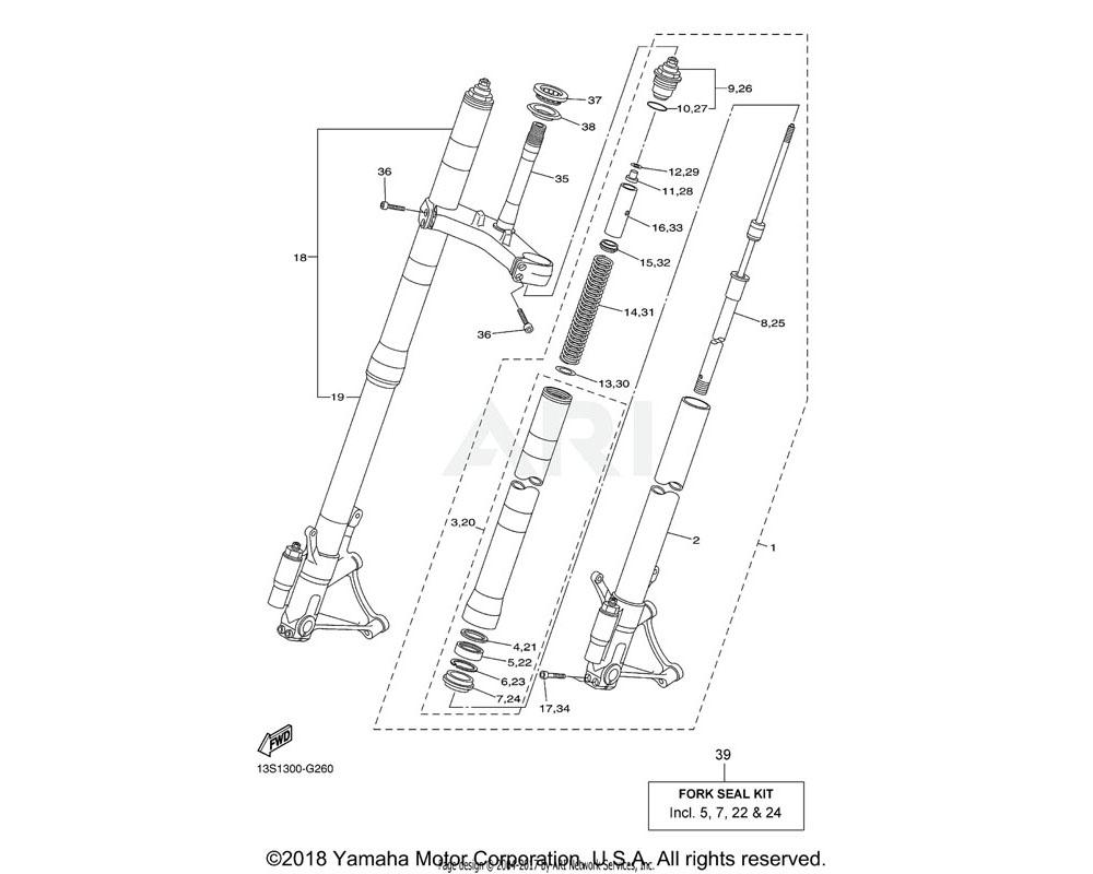 Yamaha OEM 2CX-23340-00-00 UNDER BRACKET COMP.