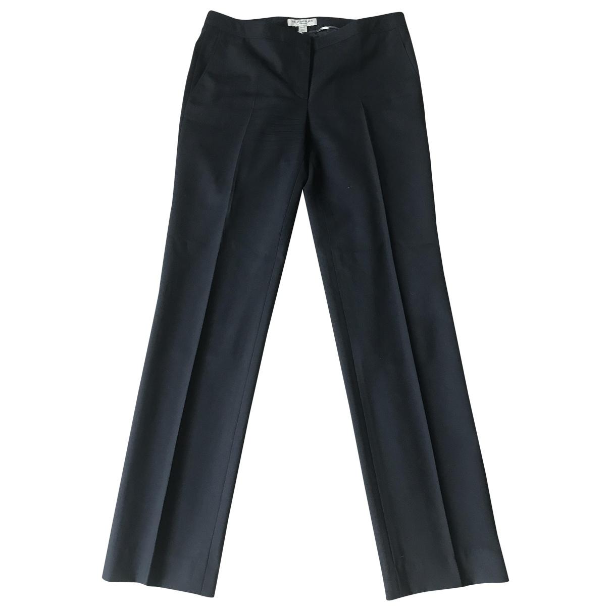Pantalon recto de Lana Burberry
