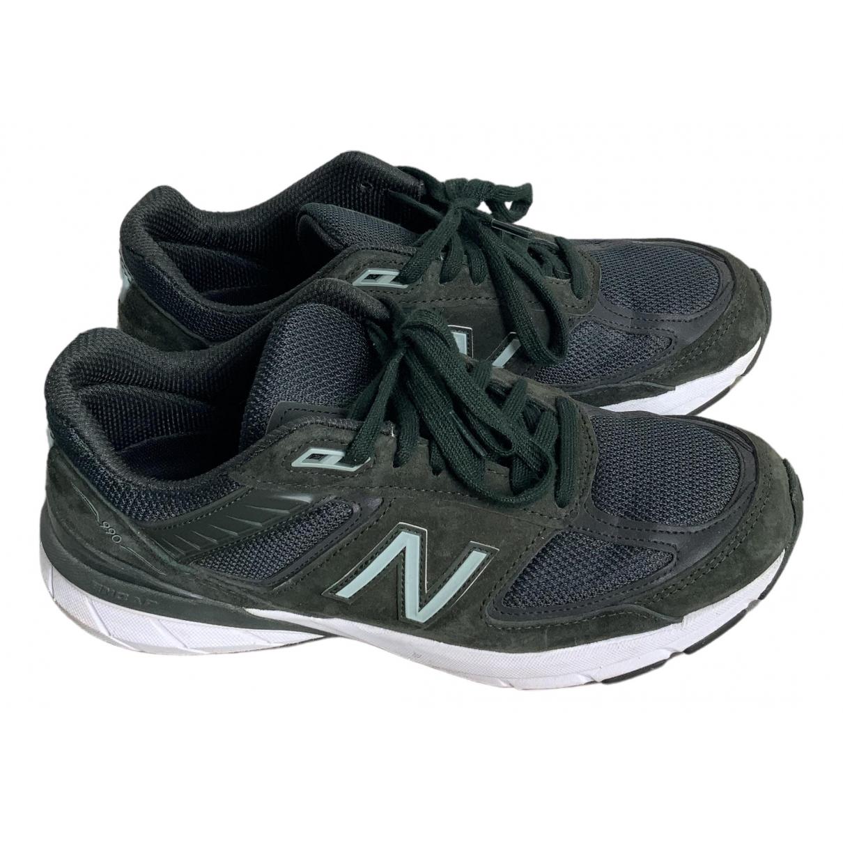 New Balance - Baskets   pour homme en suede - vert