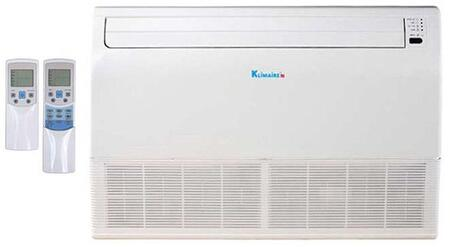 KUIM018-H2 18000 BTU Floor/Ceiling Mount Fan Coil Indoor Unit with Remote Control and Anti-Cold Air Function in