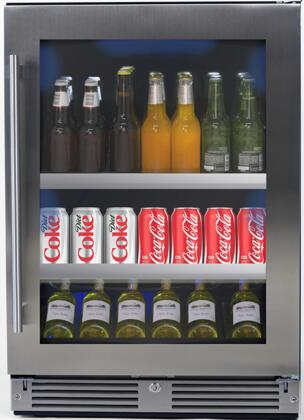 XOU24BCGSR 24 Undercounter Beverage Center with 145 Can Capacity  LED Lighting  Glass Shelves  Low-E Glass Door  Digital Temperature Control