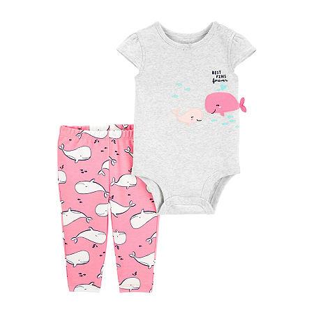 Carter's Baby Girls 2-pc. Bodysuit Set, 12 Months , Gray
