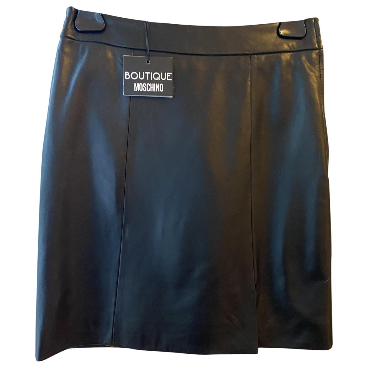 Moschino Love \N Rocke in  Schwarz Leder