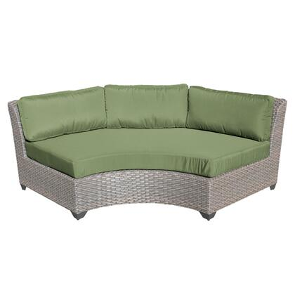 TKC055b-CAS-DB-CILANTRO Florence Curved Armless Sofa 2 Per Box with 2 Covers: Grey and