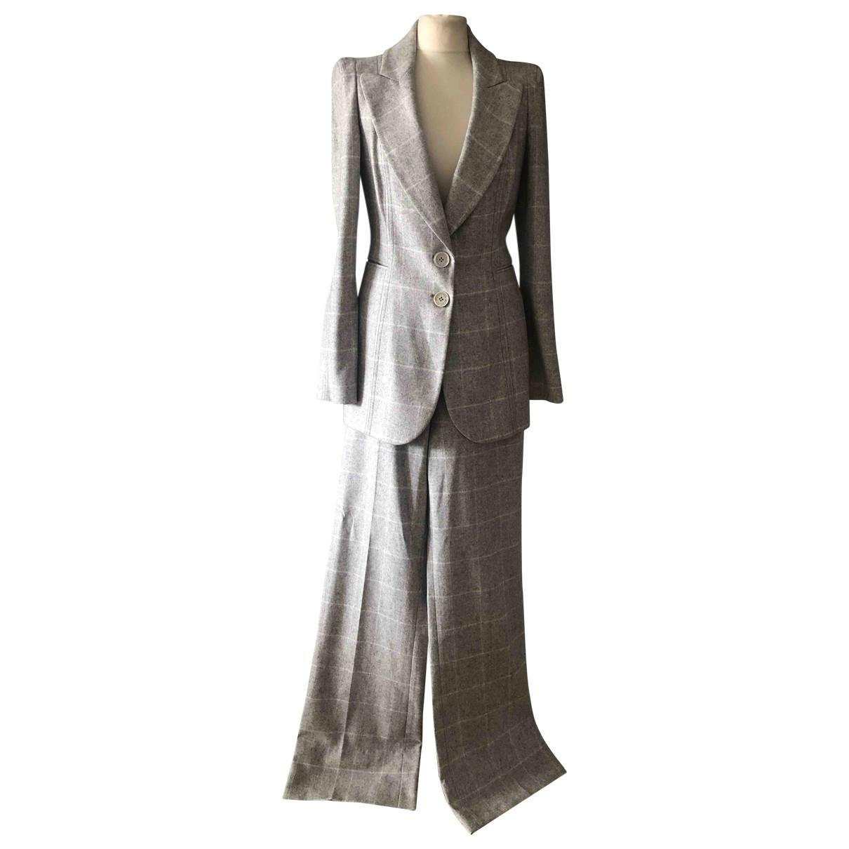Emanuel Ungaro \N Grey Wool jacket for Women 40 FR