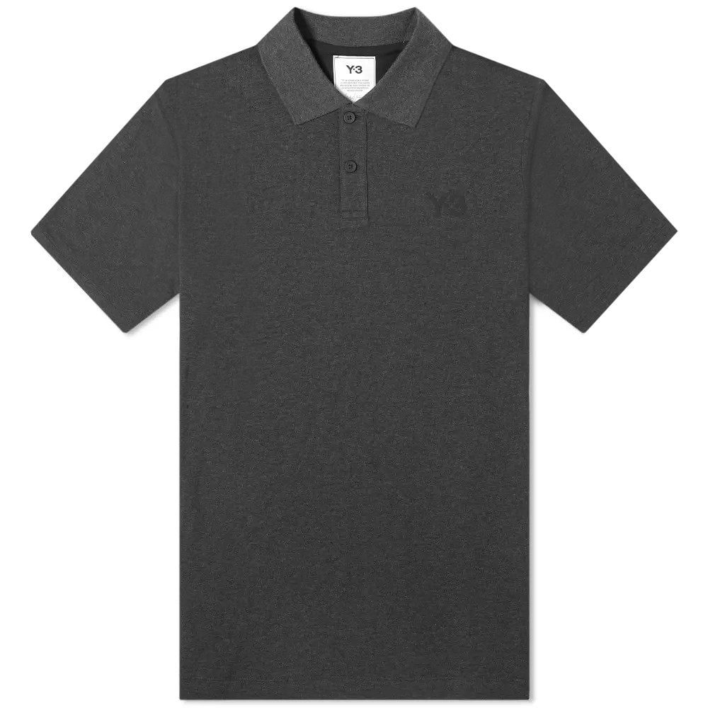 Y-3 Pique Polo Colour: GREY, Size: LARGE