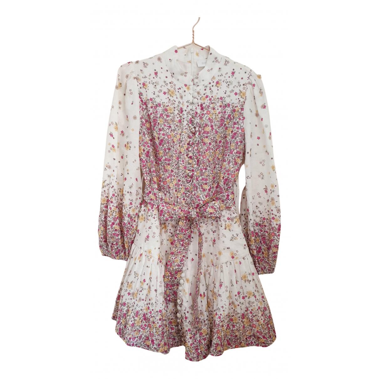Zimmermann - Robe   pour femme en lin - beige