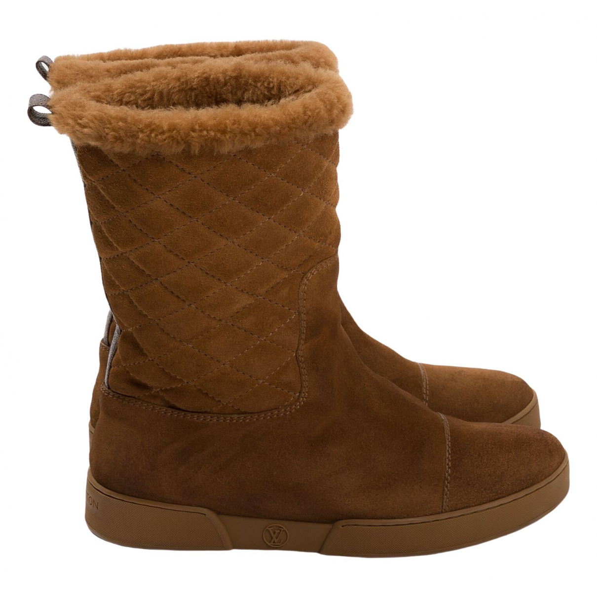 Louis Vuitton \N Brown Suede Ankle boots for Women 37 EU