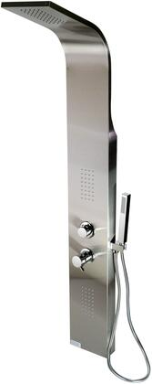 ABSP20 Wall-Mounted Shower Panel with 2 Body Sprays  Handheld Sprayer and Overhead Rain Shower in Stainless