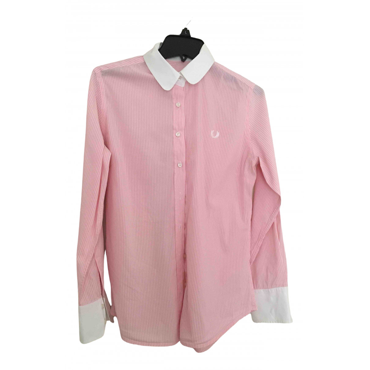 Fred Perry N Pink Cotton  top for Women XL International