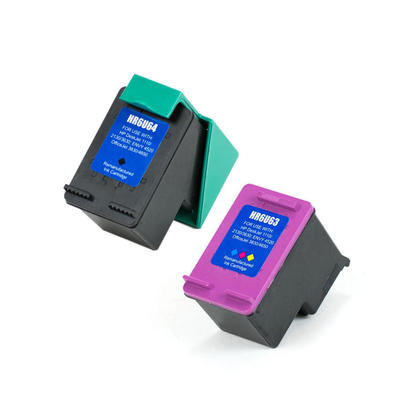 Compatible HP 63XL F6U64AN F6U63AN Ink Cartridge Black and Color Combo High Yield