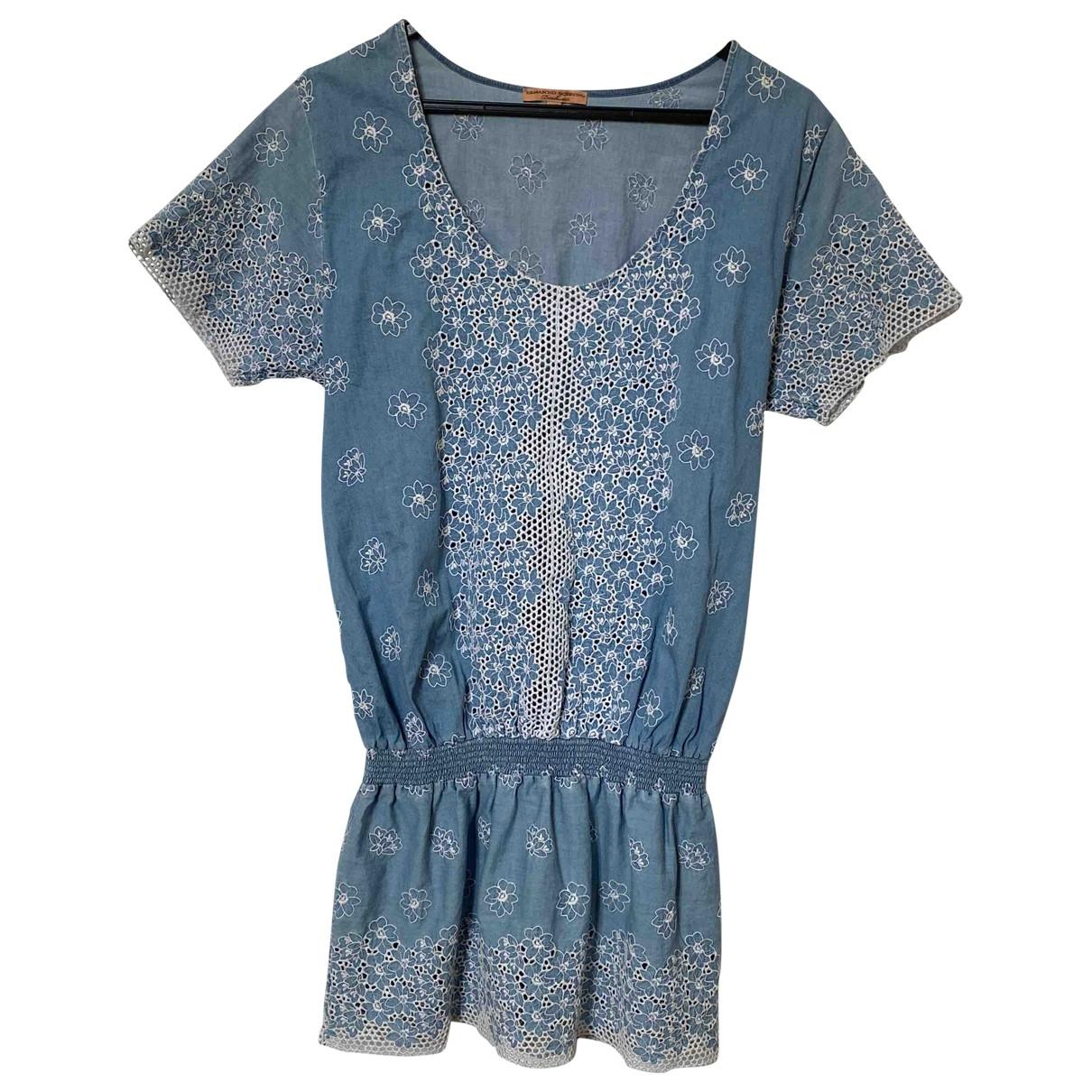 Ermanno Scervino \N Kleid in  Blau Baumwolle