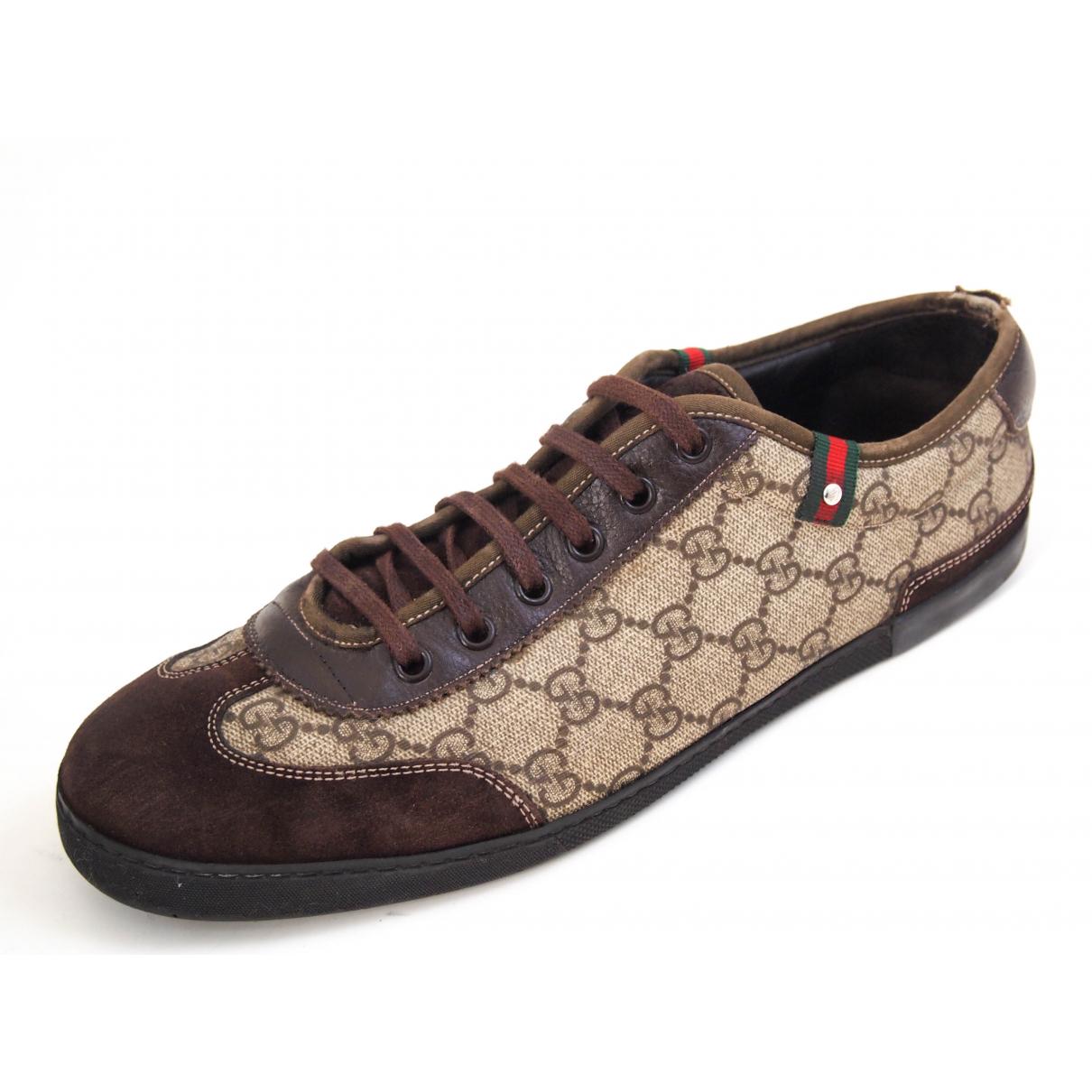 Gucci - Baskets   pour homme en suede - marron