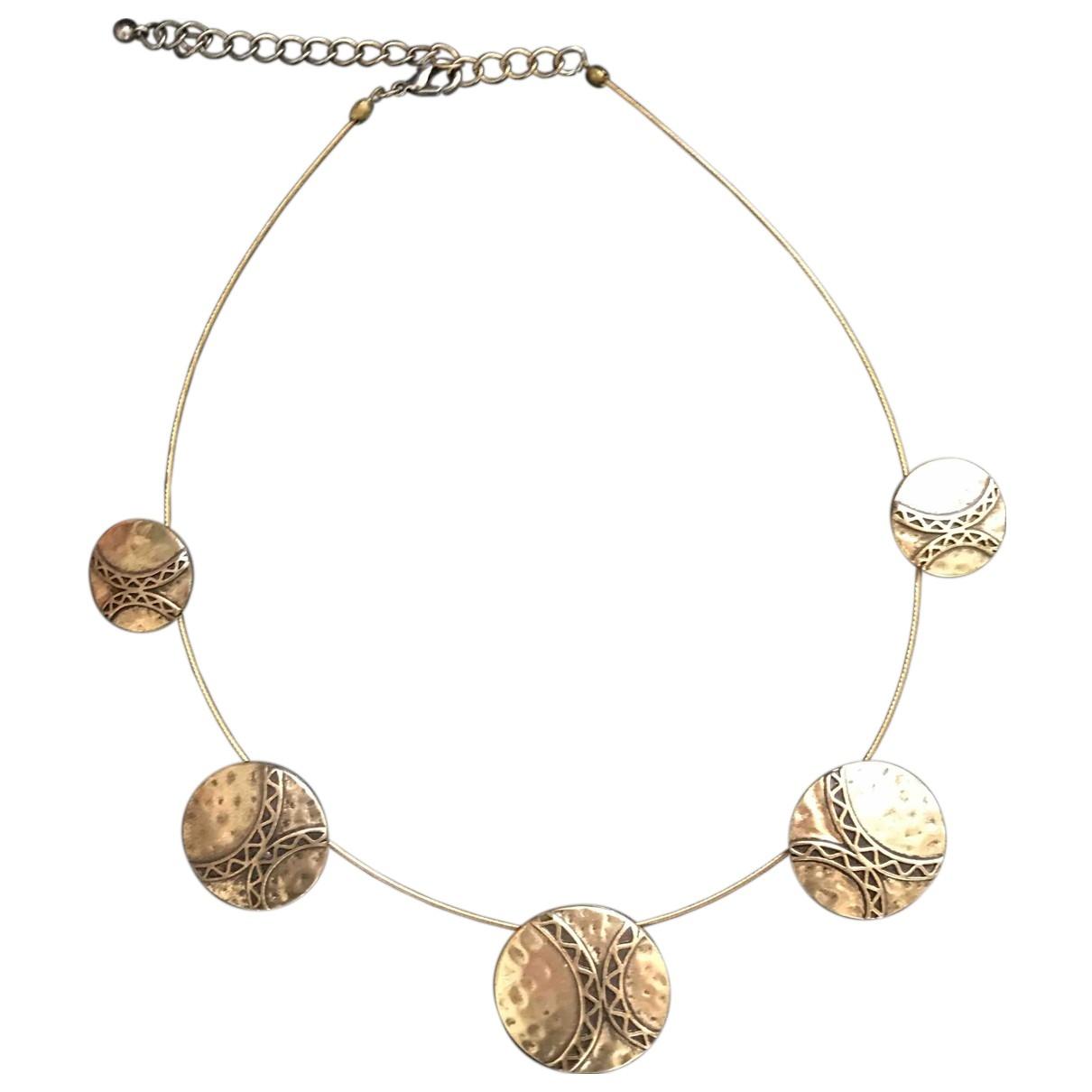 - Collier Motifs Ethniques pour femme en metal - dore