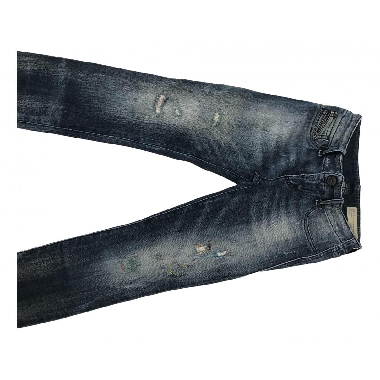 Diesel - Pantalon   pour enfant en coton - marine