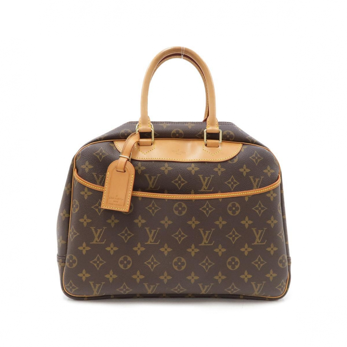 Louis Vuitton - Sac de voyage Trouville pour femme en toile - marron