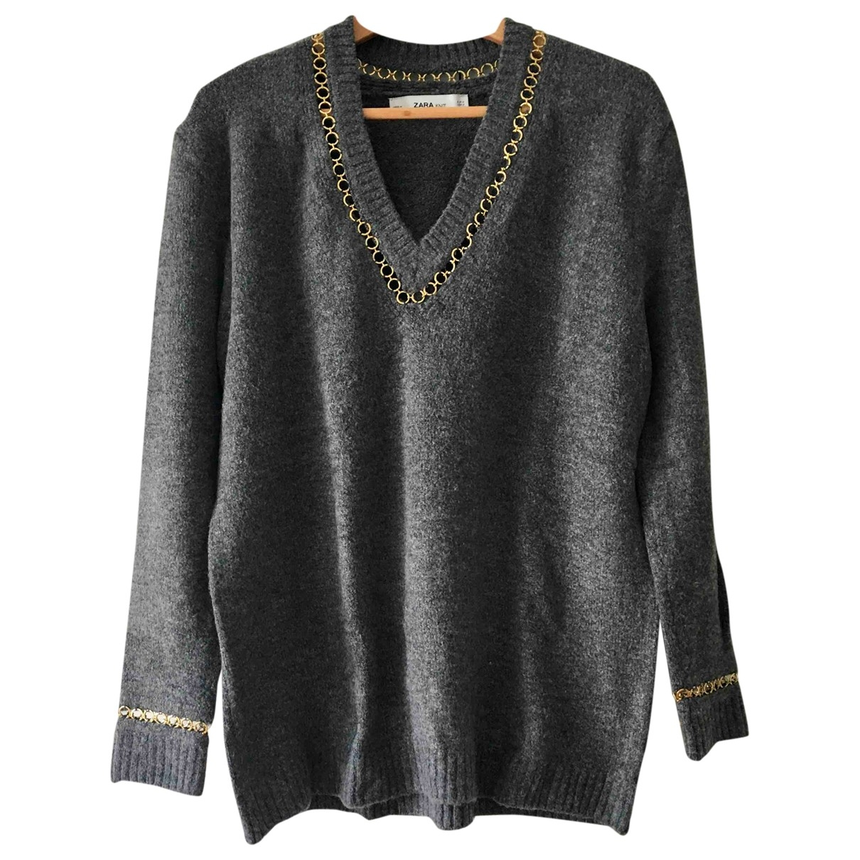 Zara \N Pullover in  Grau Polyester