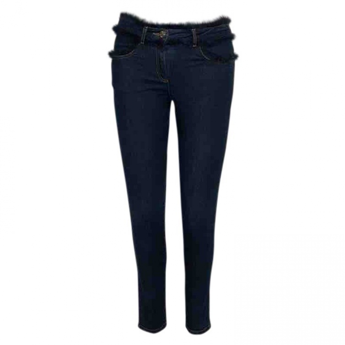 Chloé \N Navy Cotton Trousers for Kids 14 years - S UK
