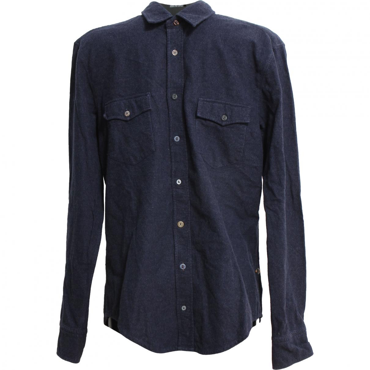 Boss \N Blue Cotton Shirts for Men L International